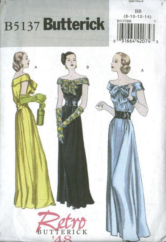Retro 1948 OOP Butterick 5137 Sz 8 - 14 NIP   Pattern Love   Pinterest