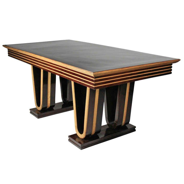 Fine 1940 s Italian Geometric Dining Table 1 e53197c57c