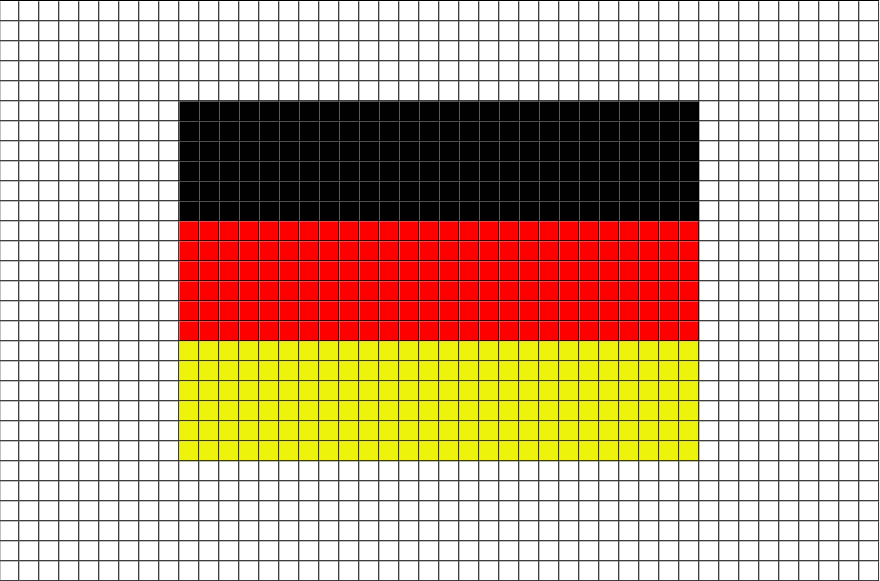 Flag of Germany Pixel Art | Pixel art, Modele pixel art et Dessin pixel