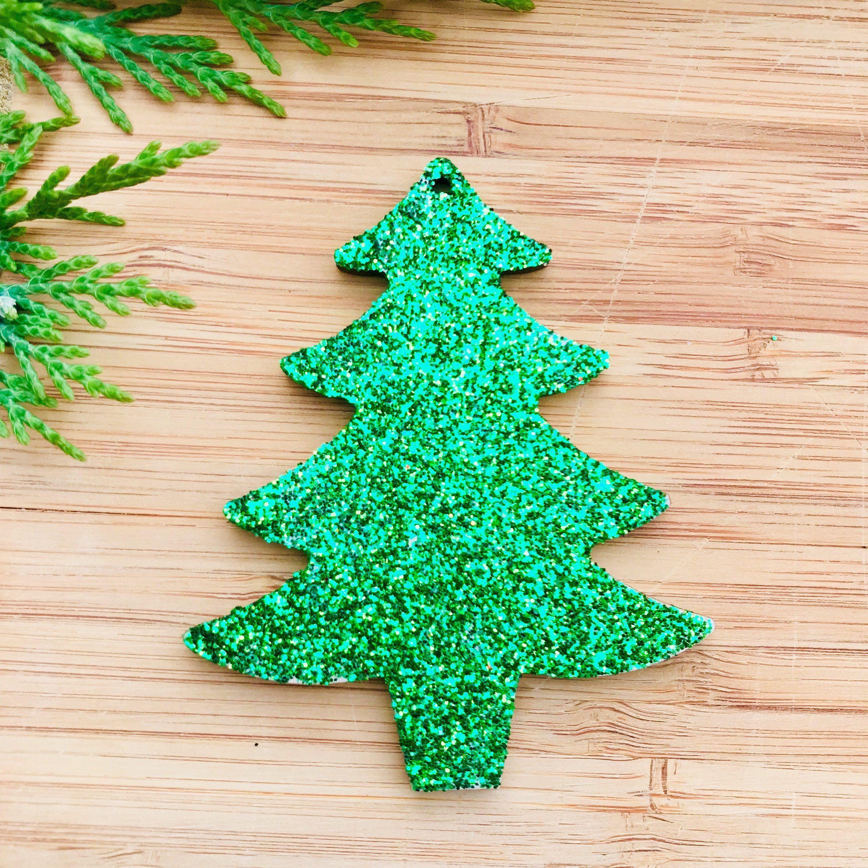 Green Glitter Tree Christmas Decoration Green Xmas Bauble Etsy Green Xmas Hanging Christmas Tree Xmas Baubles