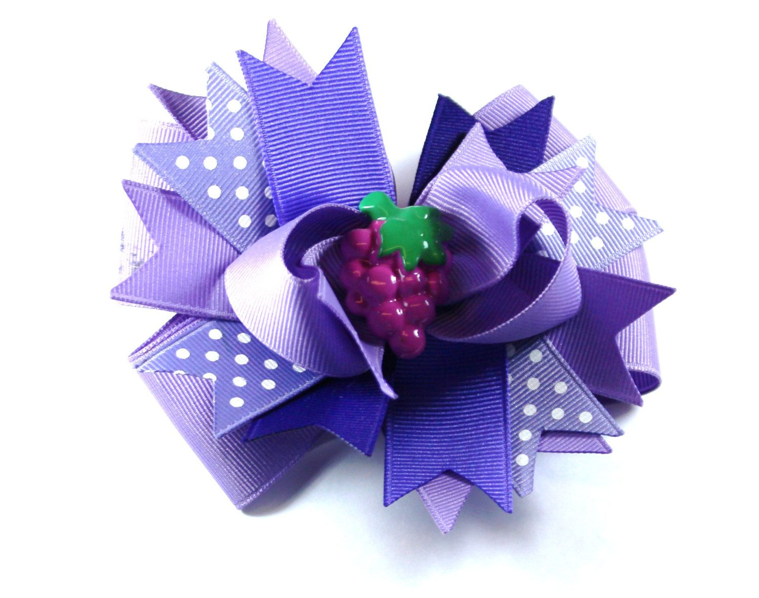 girl hair accessories purple grape girl mouse bow clip