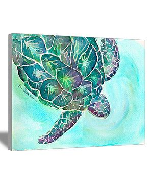Another great find on #zulily! Sea Turtle Canvas by CafePress #zulilyfinds