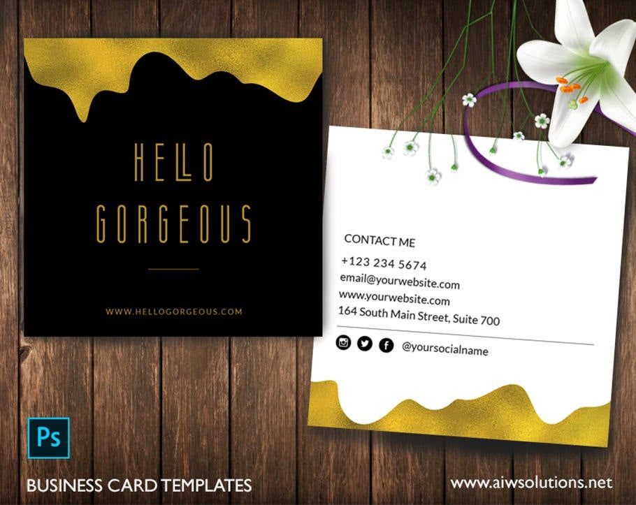 Gold Foil Name Card Template Gold Glitter Calling Card Etsy Foil Business Cards Business Card Template Design Gold Foil Business Cards