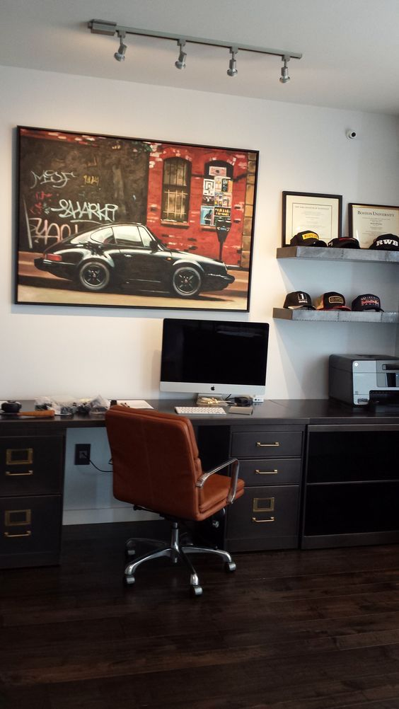 great home office area for the men