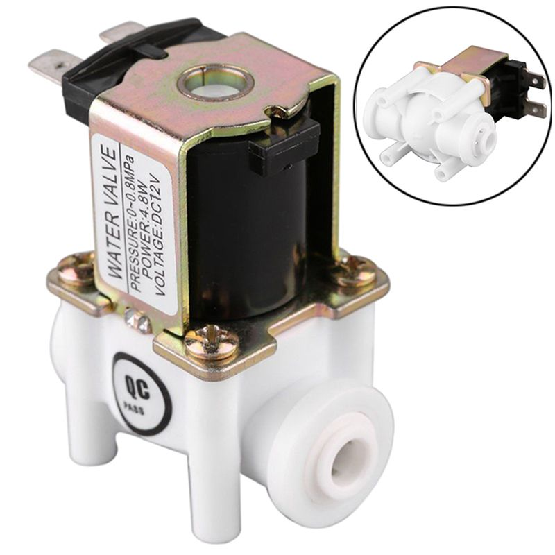 Dc 12v Electric Solenoid Water Valve 1 4 20mm Pp Nc Magnetic Water Air Inlet Flow Switch Normally Closed Water Valves Plumbing Electricity