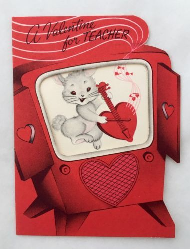 rare vintage valentine 039 s day card rabbit - Valentine039s Day Greeting Cards