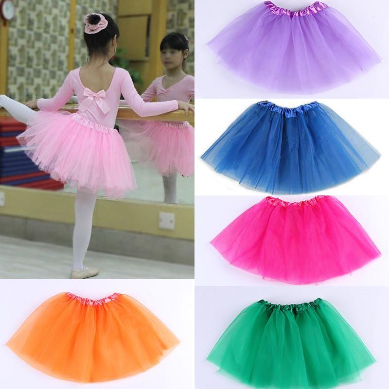 Baby Girl Toddler Kids Princess Dress Party Wedding Tutu Dancewear Dance Skirt