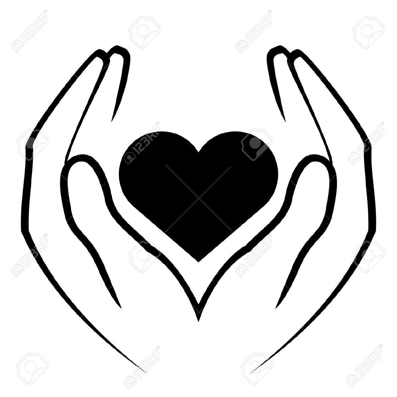 1300x1300 Hand Heart Clipart Logo Hand Heart Christmas Clip Art