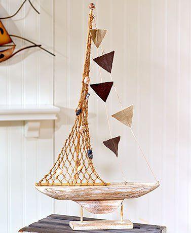 Home Decorative Collection | Coastal Home Decor Collection Decorative Wood Sailboat