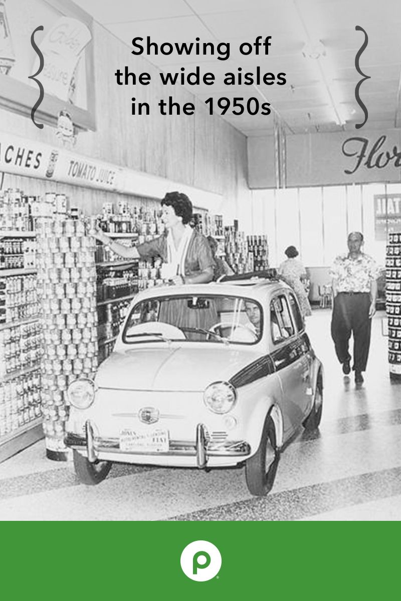 In the '50s, Publix was known for its unique features and