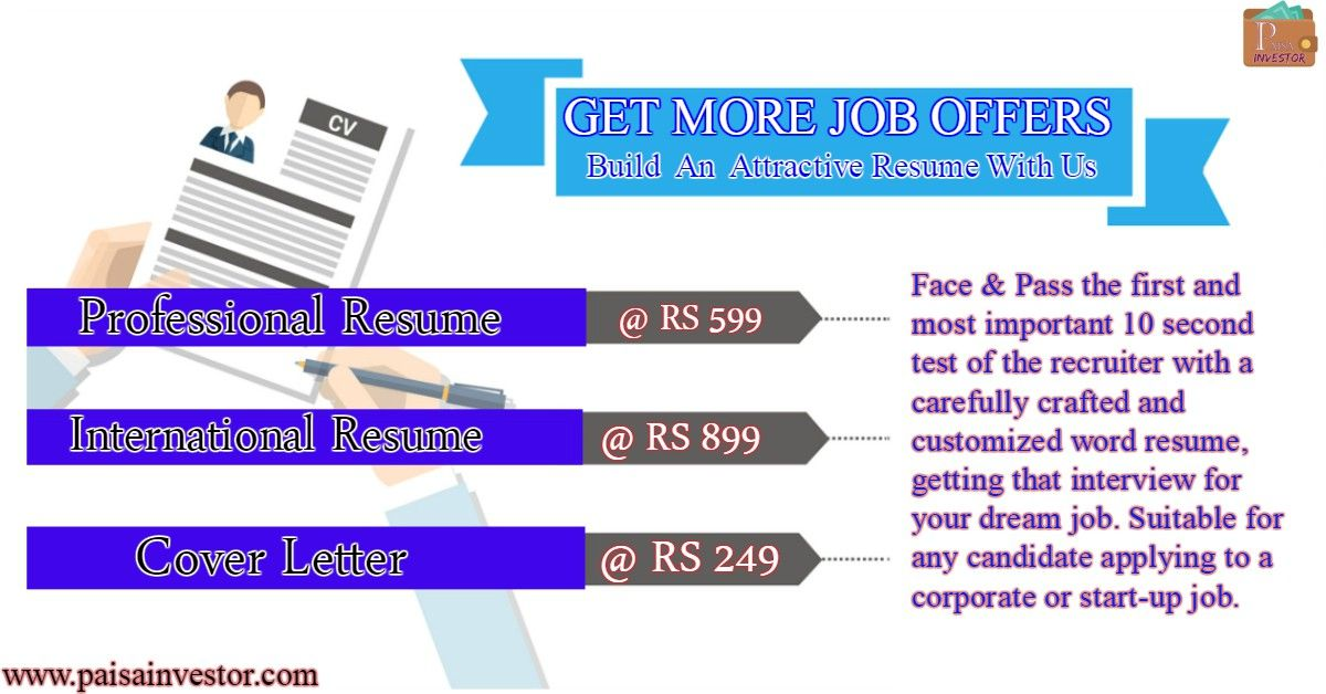 Resume Writing Services In India Get More Job Offer Build Professional Resume With Us Paisainvestor R Resume Writing Services Resume Writing Online Resume