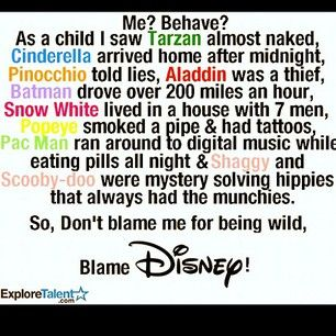 S Me? Behave? Seriously!! As a Child I Saw Tarzan Almost