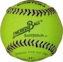 "Incrediball 11"" Softstitch Softball - Yellow"