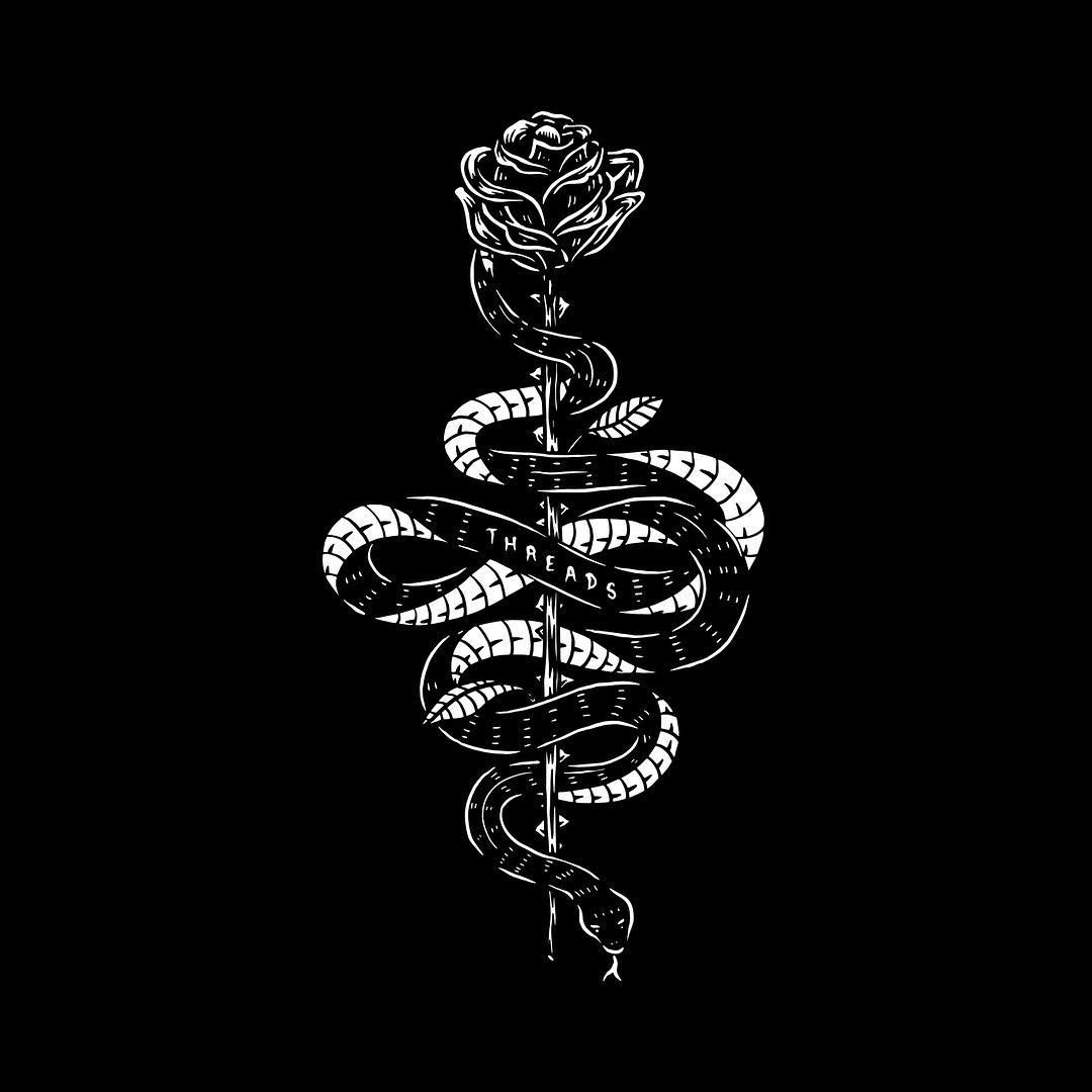 Snake Rose Design For Black Tee Coming Soon For Classic Tee Tall Tee Long Sleeve And Hoody Snake Wallpaper Edgy Wallpaper Black Aesthetic