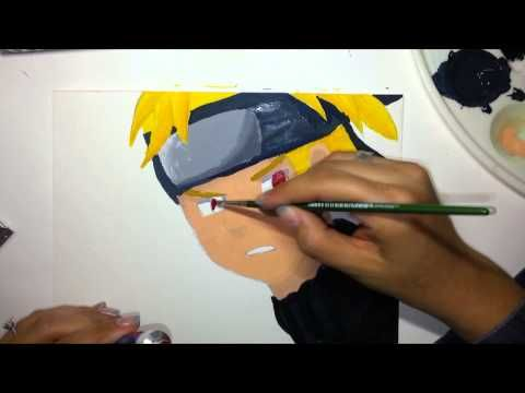How to draw Naruto - acrylic paint and Copic markers ...