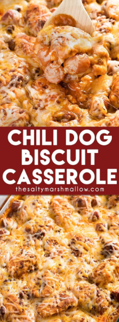 Chili Dog Biscuit Casserole