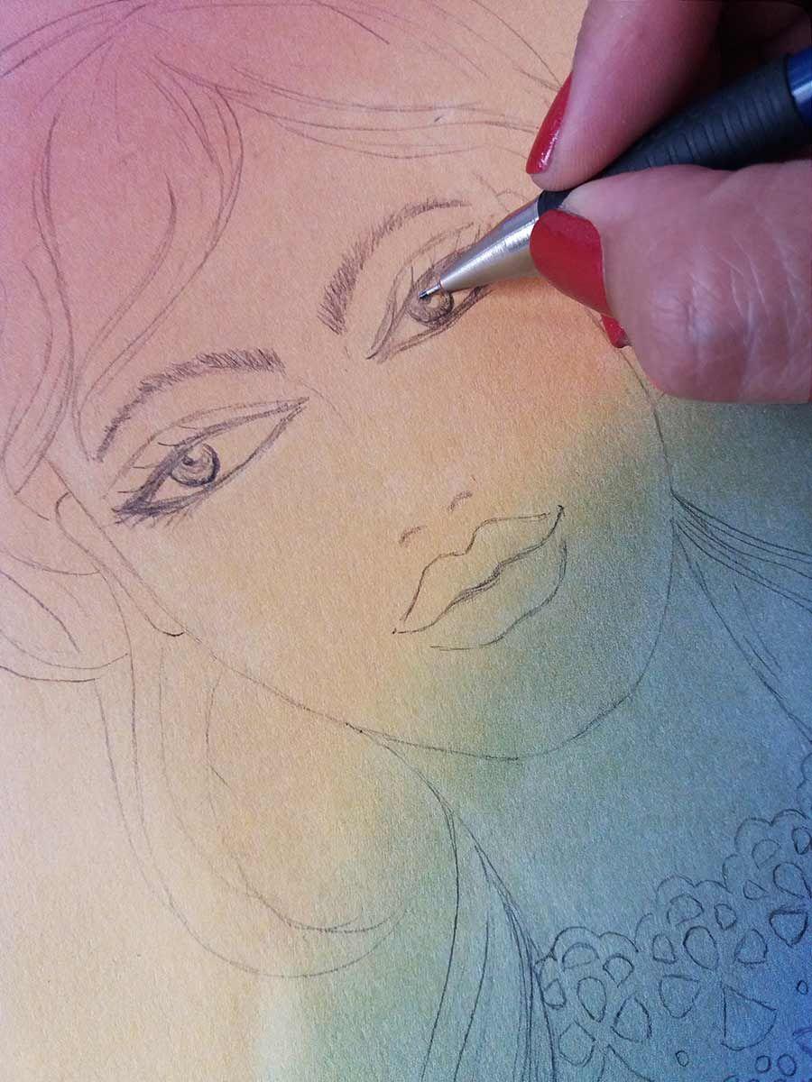 Como Dibujar Una Cara Femenina Con Marcadores Como Dibujar Una Cara Dibujos De Caras Caras