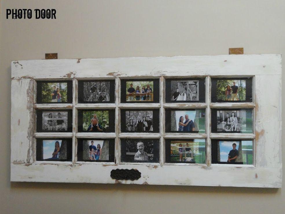 Repurposed Door To Wall Photo Art