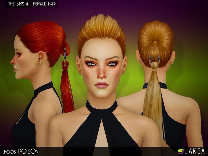 - New hair mesh Found in TSR Category 'Sims 4 Female Hairstyles'