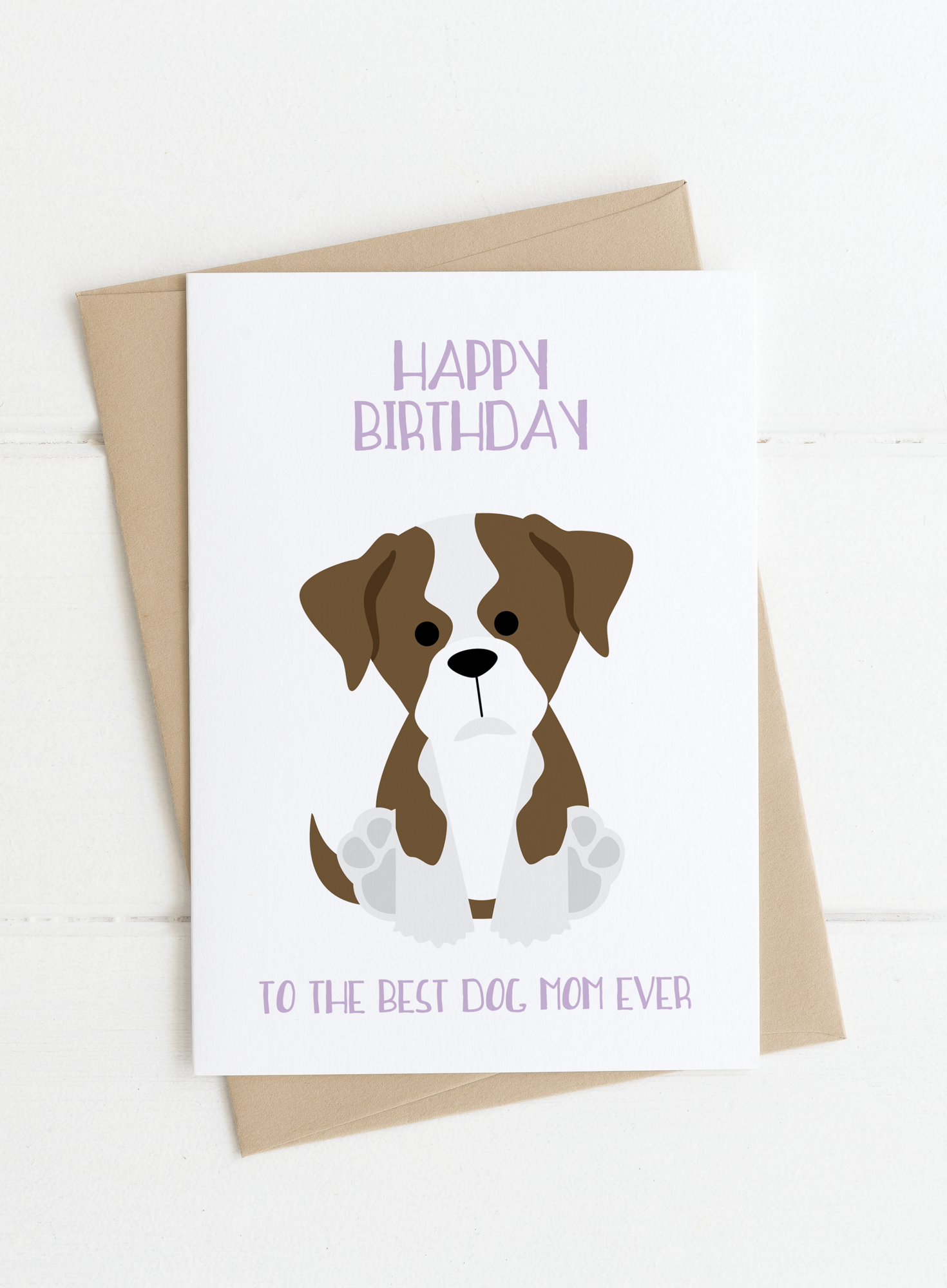 Personalized Dog Mom Birthday Card