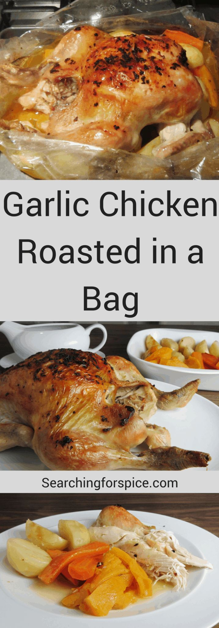Have you tried garlic chicken roasted in a bag? The bag keeps it so deliciously ... Have you tried garlic chicken roasted in a bag? The bag keeps it so deliciously ... -
