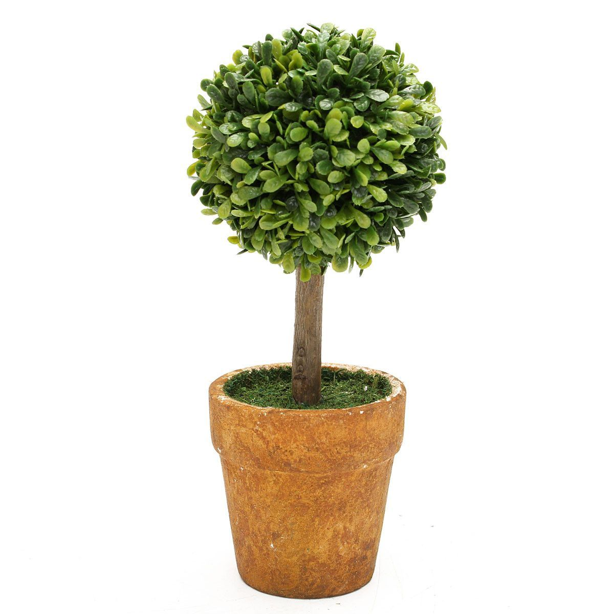 Wedding Arrangement Artificial Garden Grass Buxus Balls Boxwood Topiary Landscape Fake Trees Pots Plants Flower Pots Artificial Plants Artificial Trees Decor