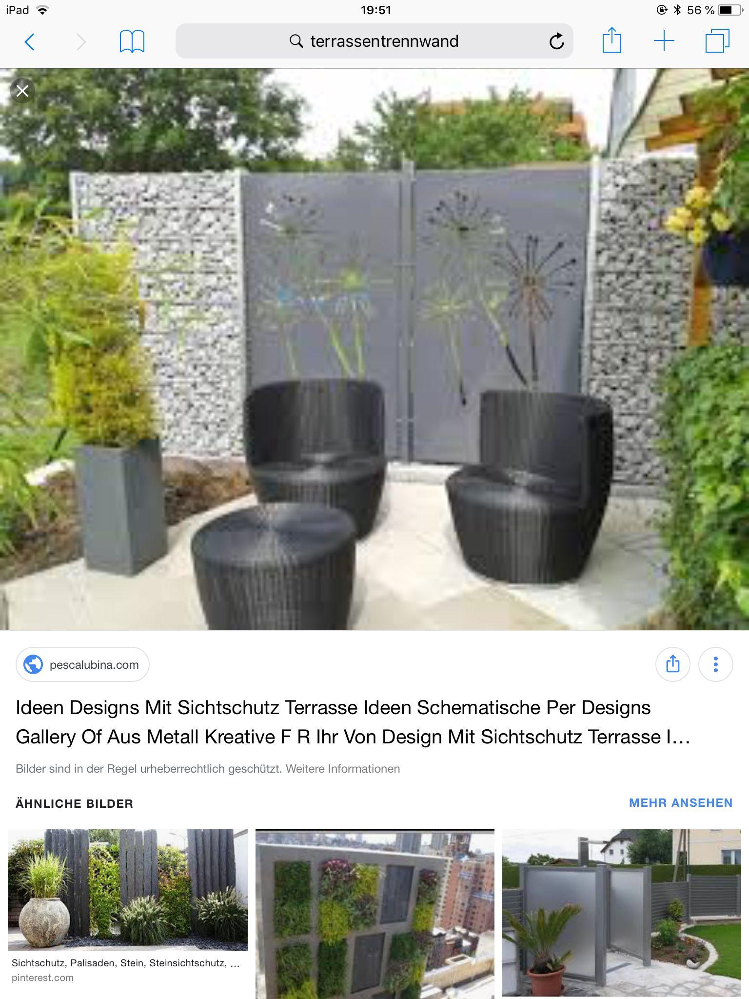 Pin Von Judith Langle Auf Gartenzaun Terrassentrennwand