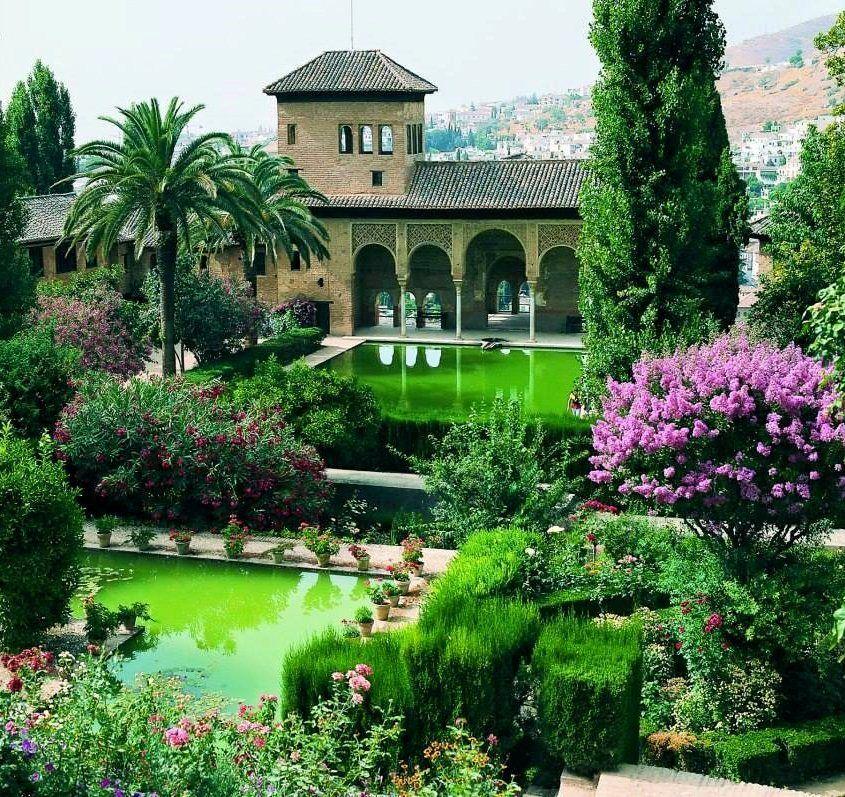 Jardines del partal alhambra granada spain travels for Jardin de gomerez granada