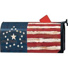 Flag Mailbox Cover Google Search Mailbox Covers Painted Mailboxes Patriotic Quilts