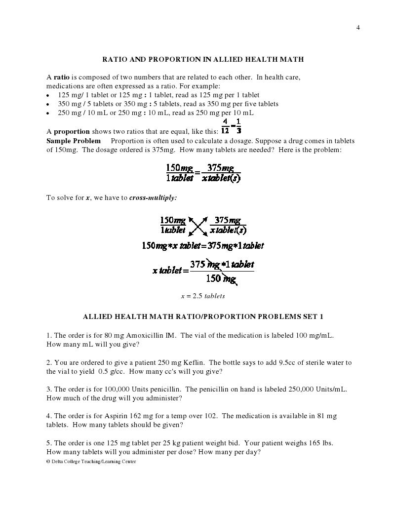 Worksheet Nursing Math Worksheets Worksheet Fun Worksheet Study Site