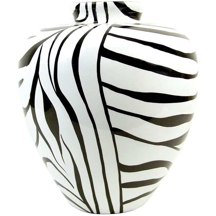 Zebra Vase White Vase Permanent Marker And I Think The Vase Will