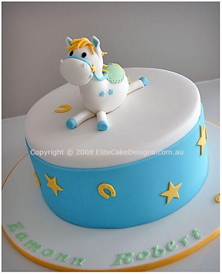 christening horse cake