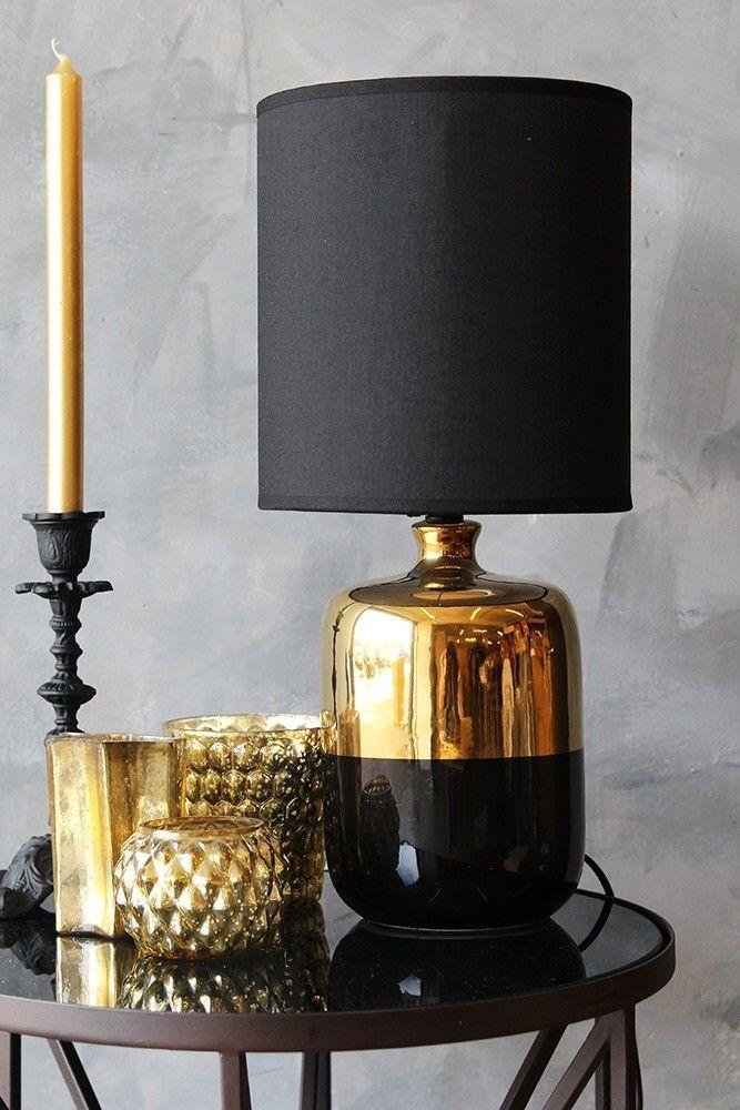 Black bronze table lamp from rockett st george
