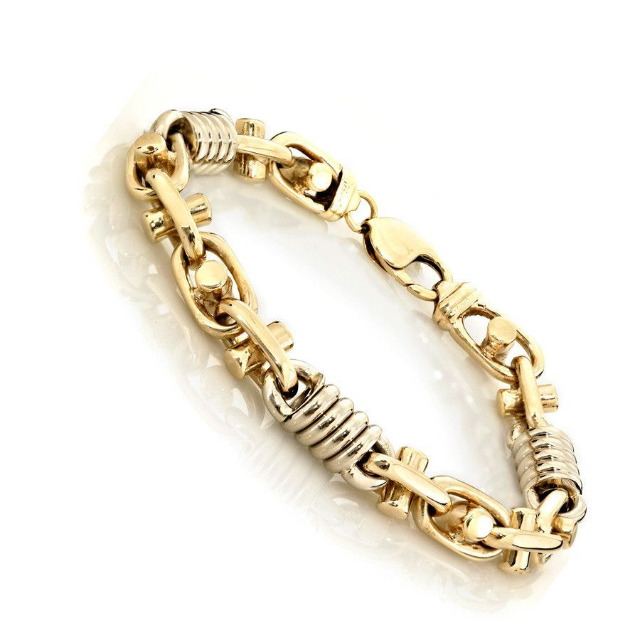 4891abba7 Gold Weight: 83.4g Metal Type: 14KT Gold Color: TWO TONE Type of Link:  BULLET LINKS