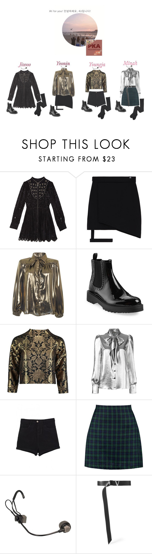 """""""Performing At Polyvore K-Pop Awards 2017: 4U"""" by real4u ❤ liked on Polyvore featuring Alcoolique, Prada, Sania Studio, Yves Saint Laurent, WithChic, Boohoo and Versace"""