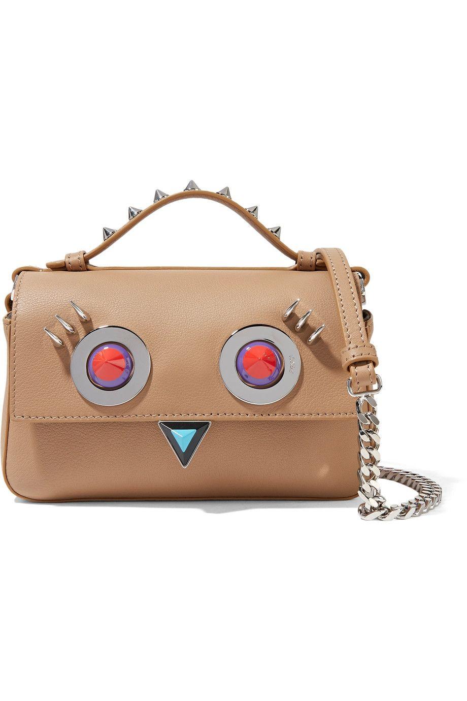 FENDI Double Baguette micro embellished leather shoulder bag ... 2ca6b6bb7fd