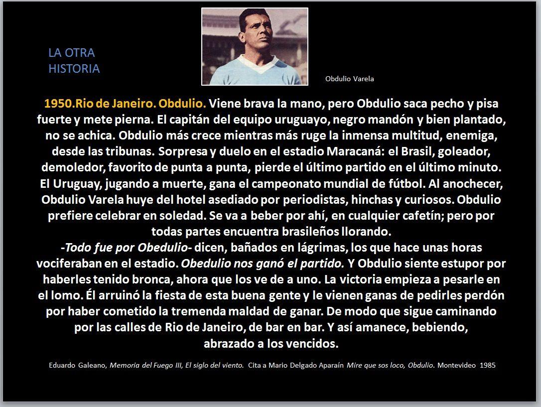 Obdulio Varela EDUARDO GALEANO