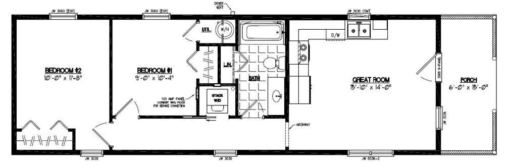 12 X 40 Floor Plan 28 14x40 Cabin Floor Plans 12 X 32 Cabin
