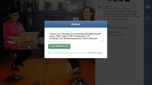 Instagram introduces web embedding! http://www.rappler.com/life-and-style/technology/33485-instagram-introduces-web-embedding