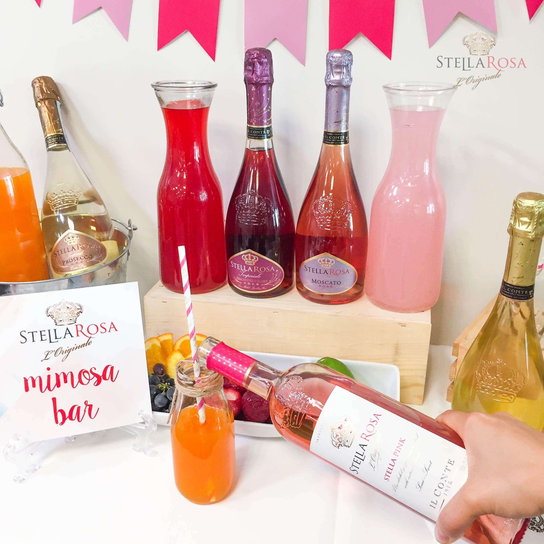 Diy Your Own Mimosa Bar Rose Wine Recipes Stella Rosa Mimosa Bar