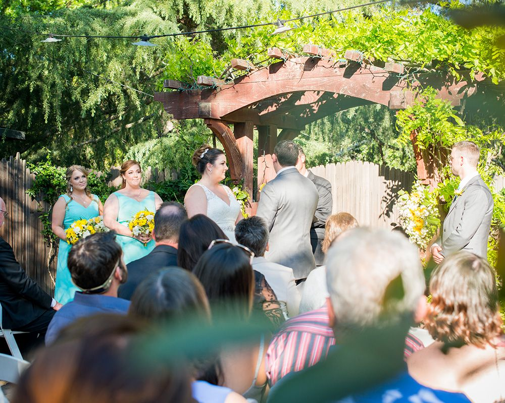 Summer Cellar Room wedding at Wine and Roses, Lodi, CA