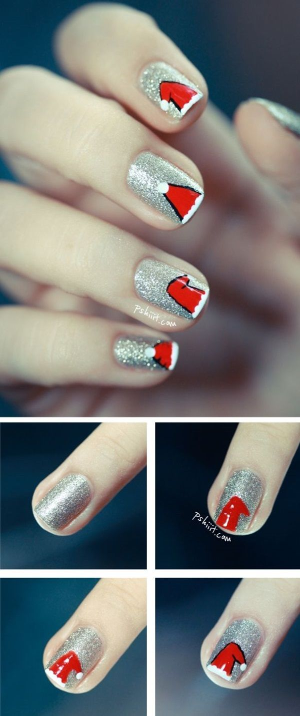 101 Simple Winter Nail Art Ideas for Short Nails | Pinterest ...