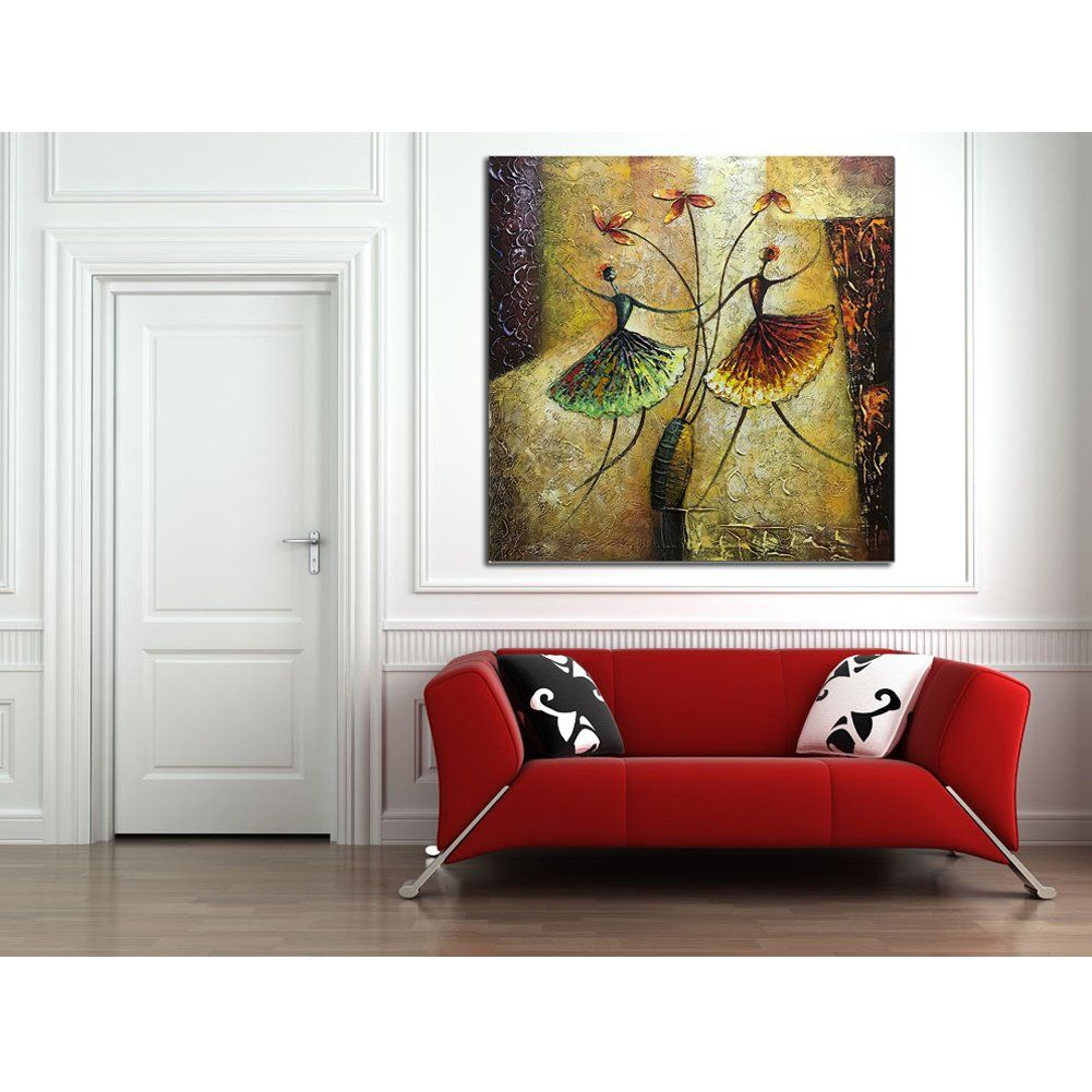 Metuu oil paintings ballet dancer girl modern home decor wall art painting wood inside framed hanging decoration abstract ready to also rh pinterest
