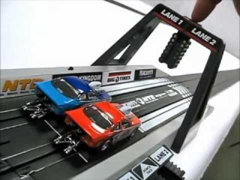 Electric slot car race track unmei no roulette mawashite 4sh