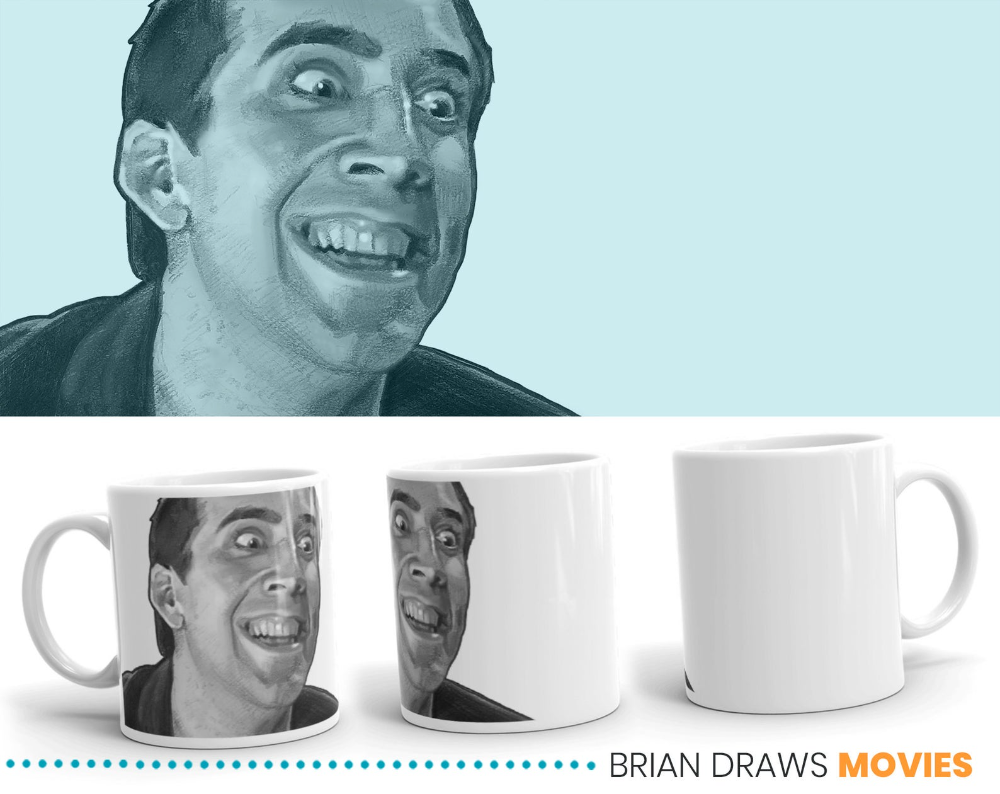 Face Off Coffee Mug Gift For Movie Lover Nicolas Cage Face Etsy In 2021 Movie Lover Film Buff Mugs