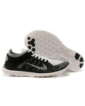 b10e83dd5feb6 2015 Nike Free 4.0 Flyknit Mens Womens Running Shoe Black Grey White ...