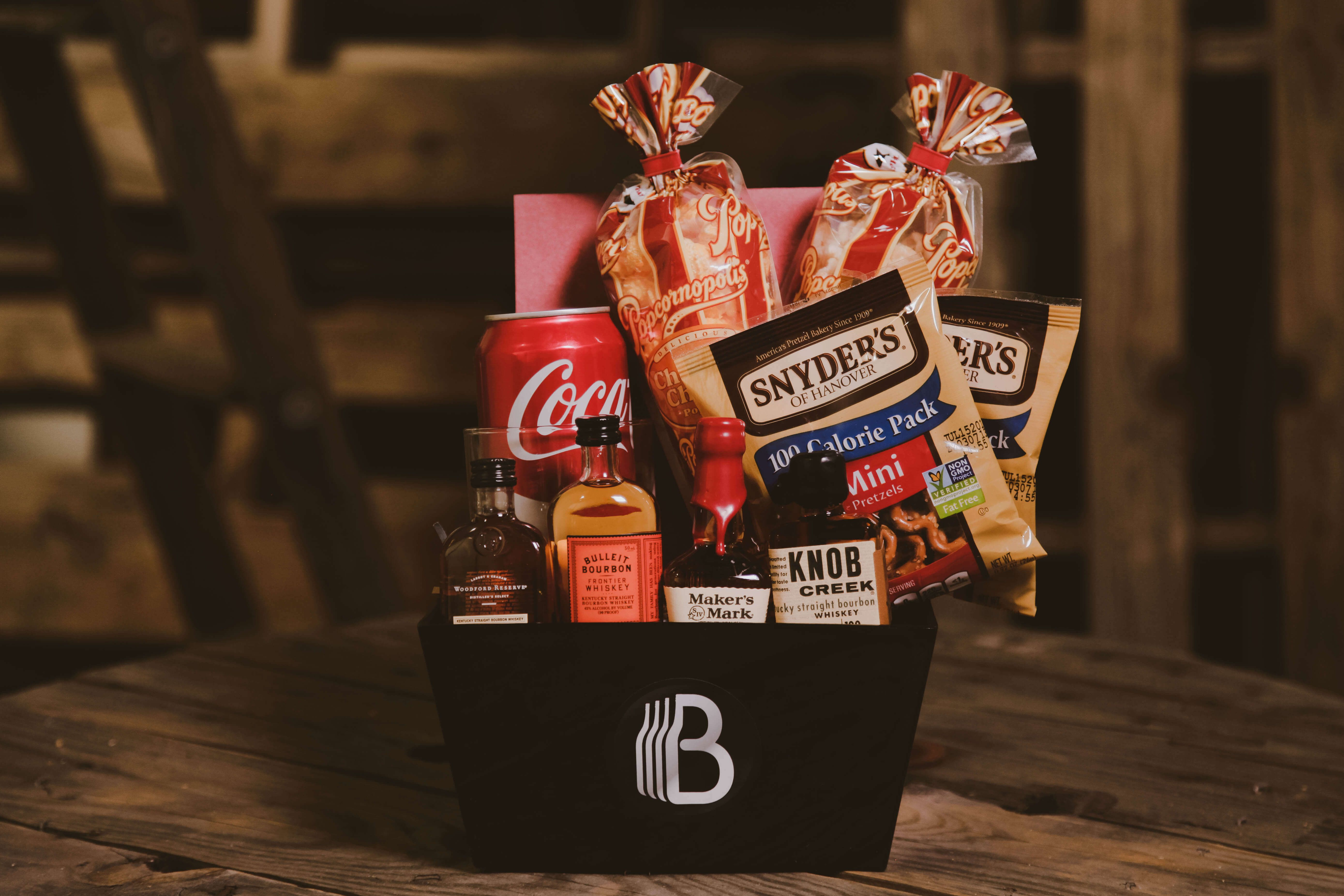 A bite of bourbon gift baskets for men baskets for men