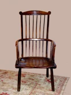 An Example Of A Comb Back Windsor Chair