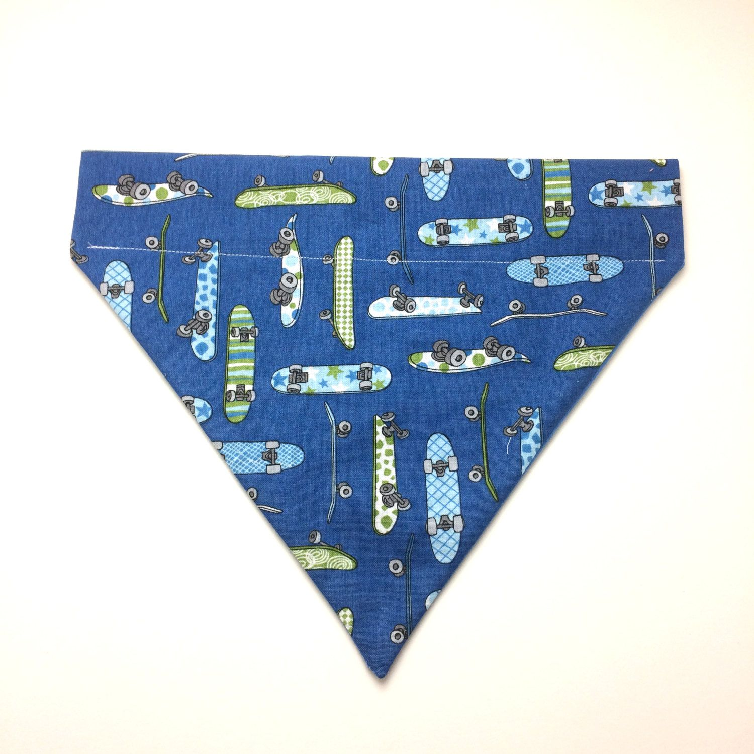 Pet Accessory - Blue Skateboard - Over the Collar - Custom - Bandana, Bow Tie, Neck Tie, Flower by HemptressDesigns on Etsy
