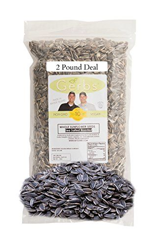 Sea Salted Sunflower Seeds In Shell by Gerbs - 2 LBS - Top 11 Food Allergen Free & NON GMO - Premium Whole Roasted Seeds, product of USA GERBS http://www.amazon.com/dp/B00EOWBREI/ref=cm_sw_r_pi_dp_jixRwb129666Q